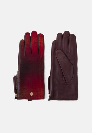 ELEVATED MIX GLOVES CHECK - Gloves - red