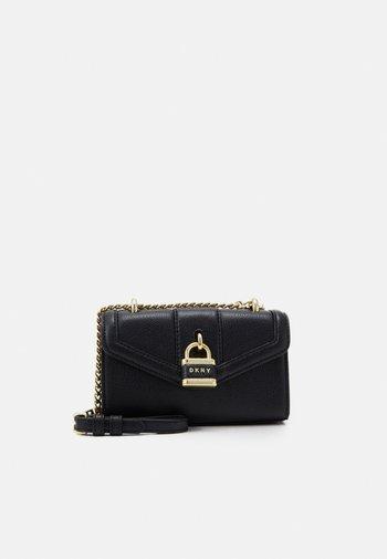 ELLA MINI FLAP SHOULDER - Across body bag - black/gold-coloured