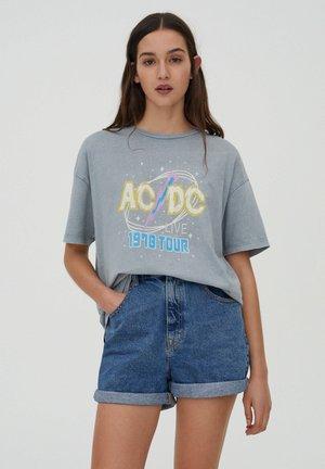 AC DC TOUR - Print T-shirt - mottled blue