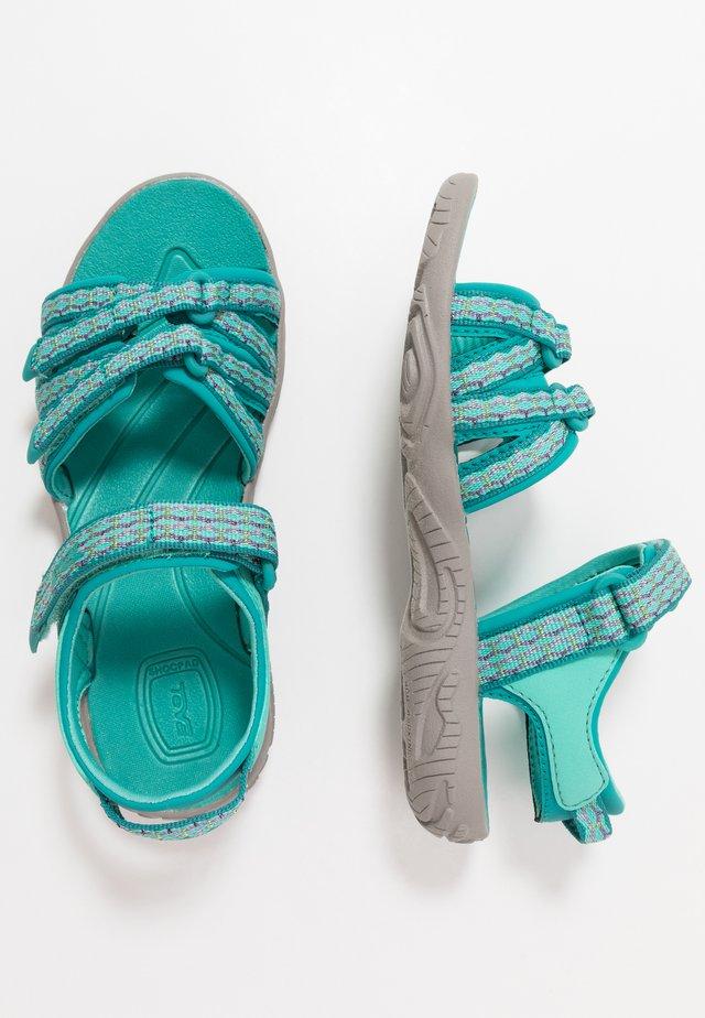 Walking sandals - camino metallic/teal blue