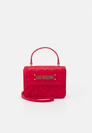 TOP HANDLE QUILTED CROSS BODY - Käsilaukku - rosso