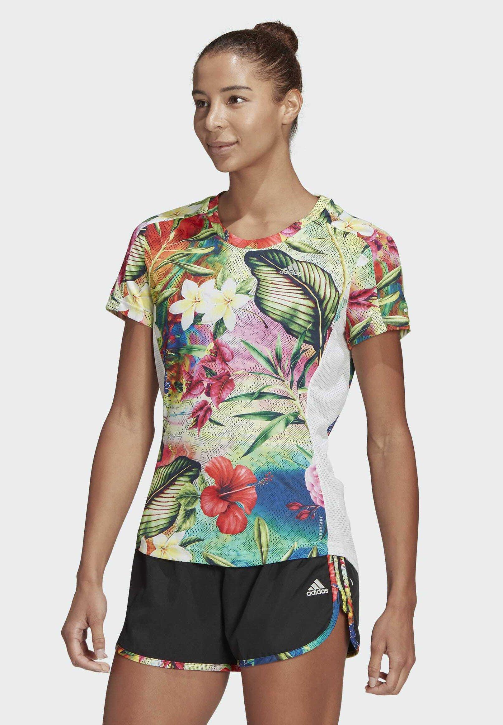 Women FLORAL AEROREADY PRIMEGREEN RUNNING - Print T-shirt