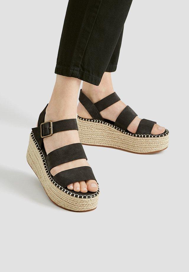Sandały na obcasie - dark grey