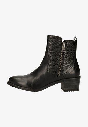 Ankle boots - black / reptile print