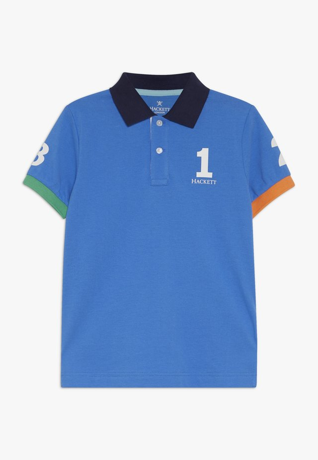 NUMBER  - Poloshirt - pacific blue