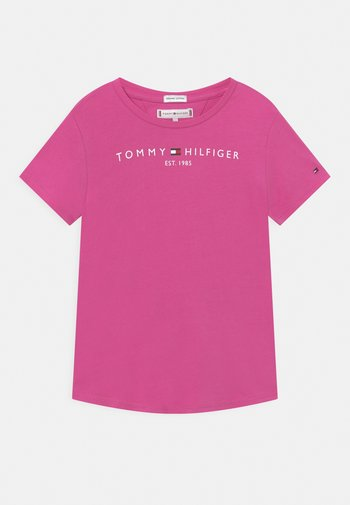 ESSENTIAL  TEE - Print T-shirt - vivid fuchsia