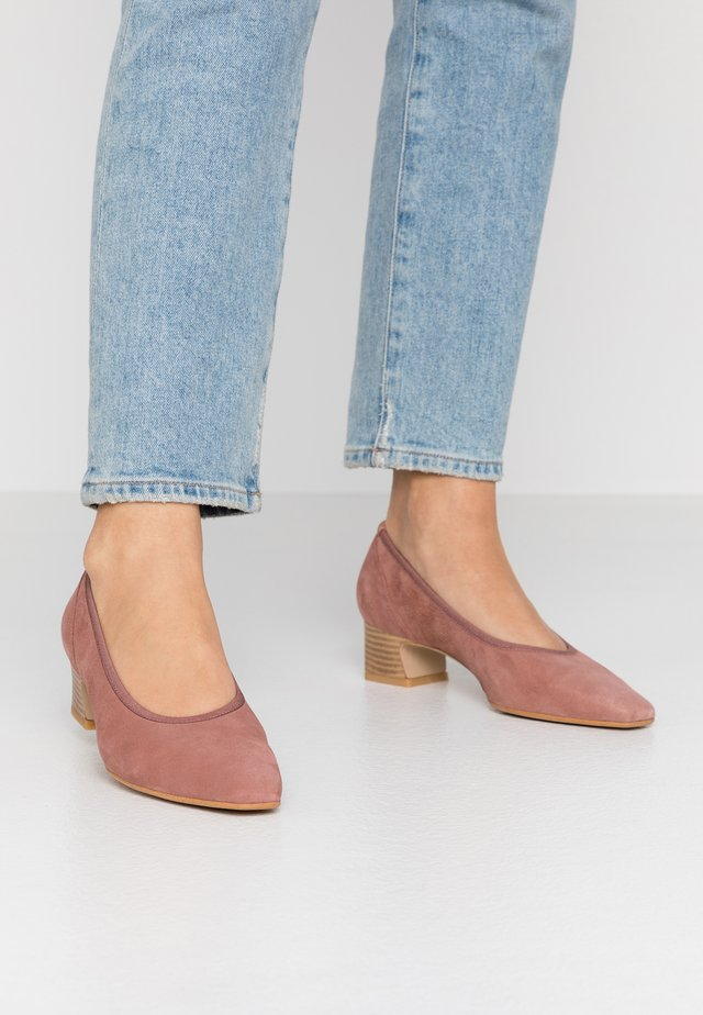 Klassiske pumps - blush
