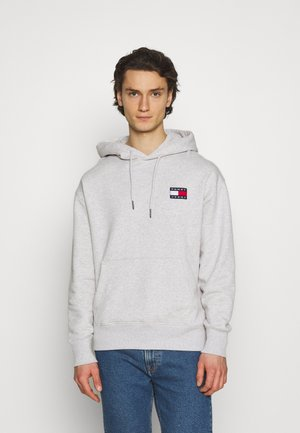 BADGE HOODIE UNISEX - Hoodie - silver grey heather