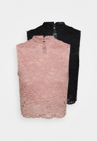 Even&Odd - 2 PACK - Top - black/pink