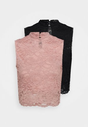 2 PACK - Top - black/pink