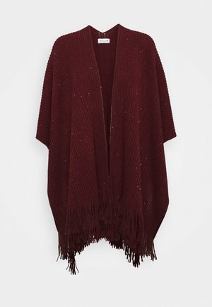 LADIES PONCHO - Cape - dark red