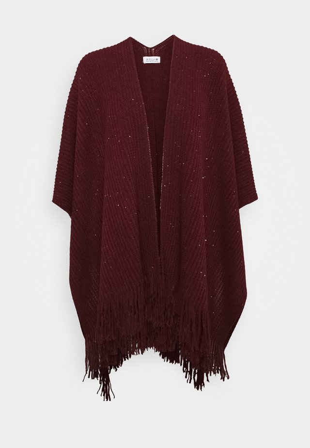 LADIES PONCHO - Poncho - dark red