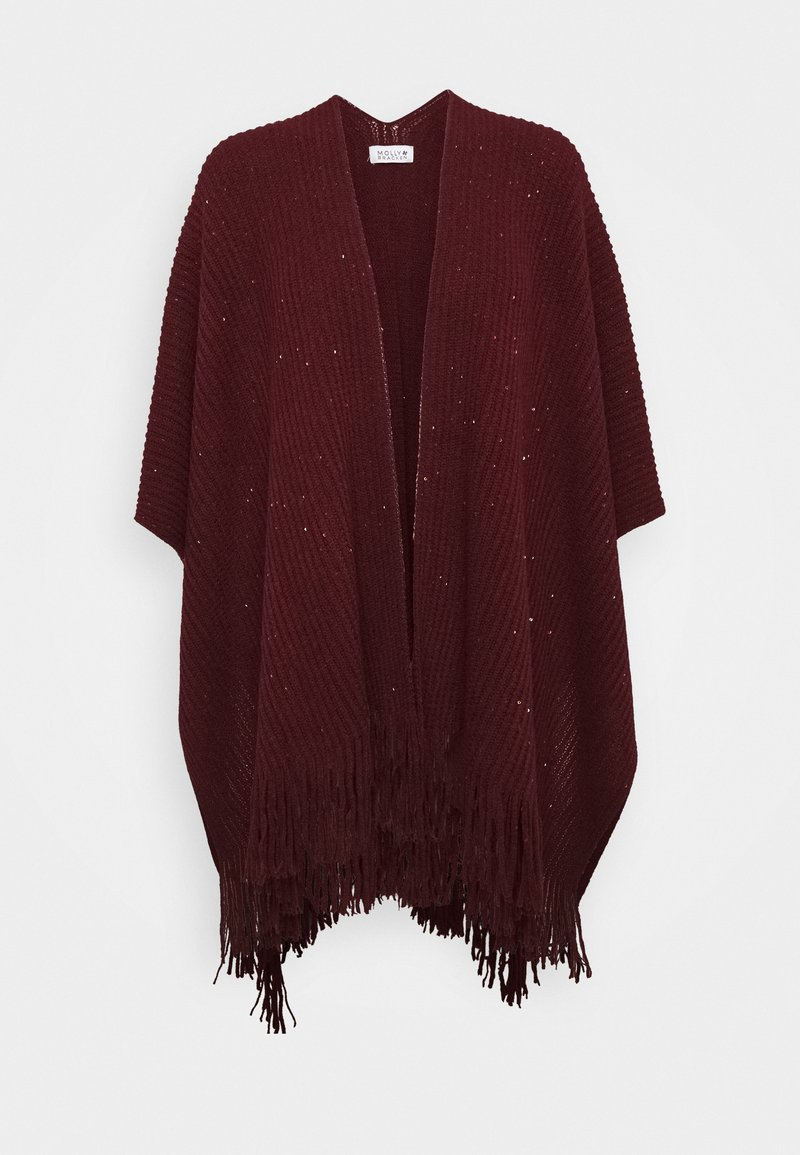 Molly Bracken - LADIES PONCHO - Cape - dark red