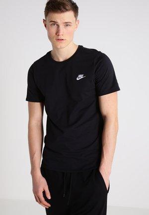 CLUB EMBROIDERY  - T-shirt imprimé - black/black/white