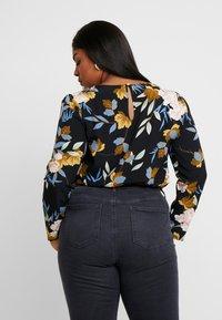 Glamorous Curve - ORIENTAL FLORAL WRAP BODYSUIT - Bluser - multi-coloured - 2