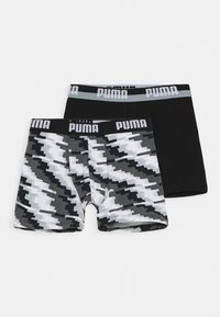 Puma - BOYS GLITCH BOXER 2 PACK - Boxerky - black combo - 0