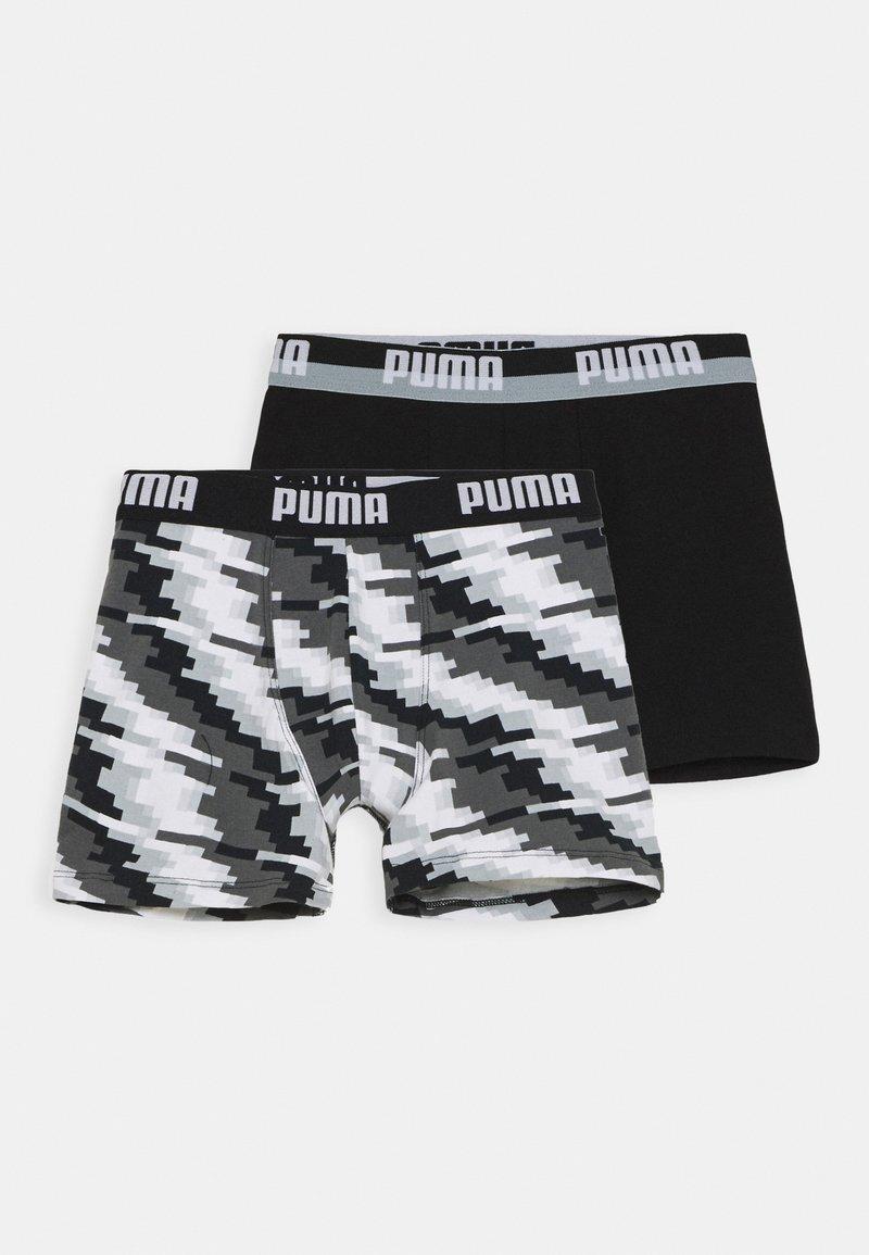 Puma - BOYS GLITCH BOXER 2 PACK - Boxerky - black combo