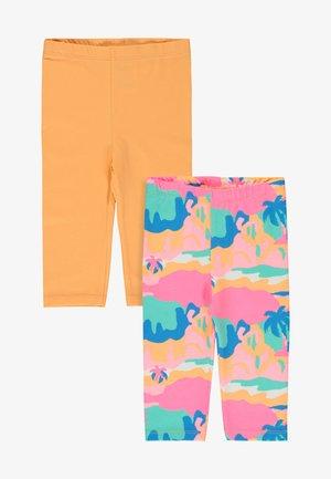 2 PACK - Leggings - Trousers - coral
