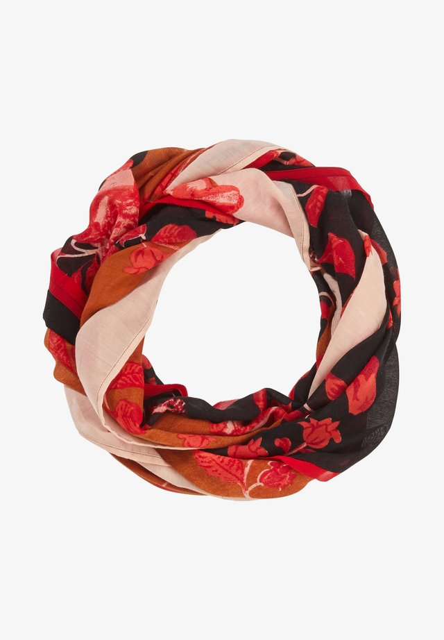 MIT ALLOVER-PRINT - Snood - black roses