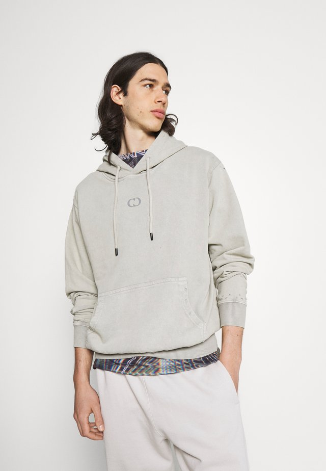 ESSENTIAL DISTRESSED HOOD - Sweatshirts - washed powder grey