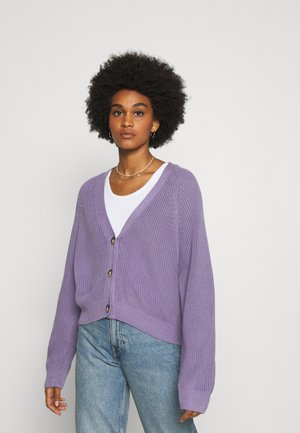 ZETA CARDIGAN - Strikjakke /Cardigans - lilac purple medium