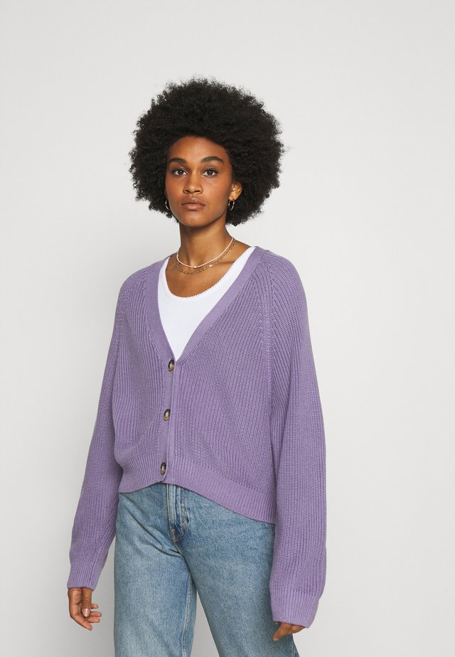 ZETA CARDIGAN - Chaqueta de punto - lilac purple medium