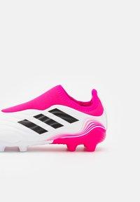 adidas Performance - COPA SENSE.3 FG UNISEX - Tekonurmikengät - footwear white/core black/shock pink - 5