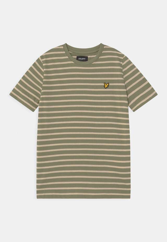 BRETON - Print T-shirt - oil green