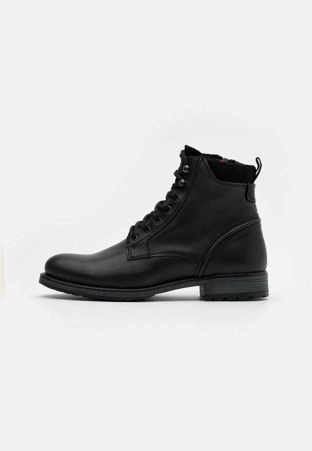 LACE UP BOOT - Lace-up ankle boots - anthracite