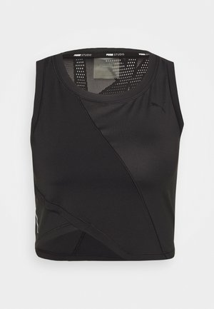 STUDIO CROP - Sportshirt - black