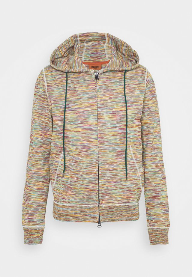 CARDIGAN - Felpa aperta - beige/multi-coloured