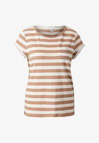 comma casual identity - MIT SCHMUCK-DETAIL - Print T-shirt - caramel stripes - 6