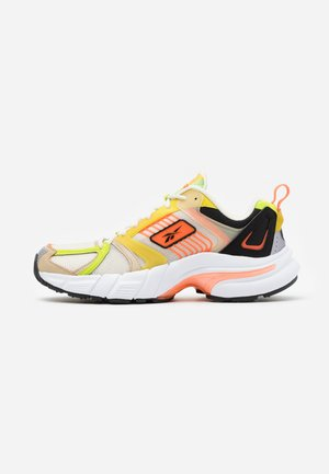 PREMIER - Sneakersy niskie - alabaster/utility yellow/black