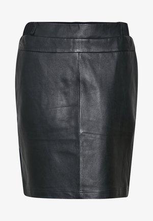 KASOFIE - Jupe en cuir - black deep