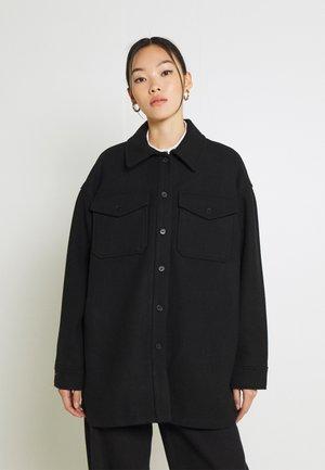 ARIES BLEND OVERSHIRT - Short coat - black