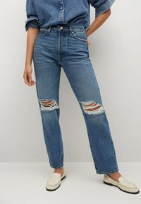 Mango - Relaxed fit jeans - medium blue - 0