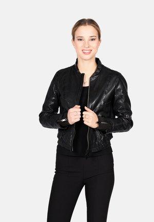 SHORT BLACK-FN - Leather jacket - black