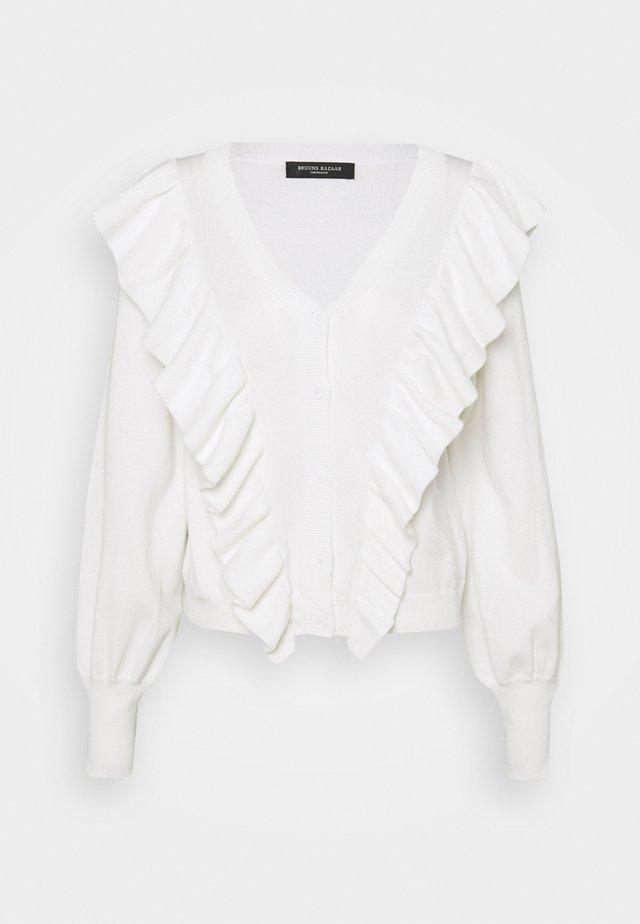 ANEMONE MIRELLA CARDIGAN - Vest - snow white