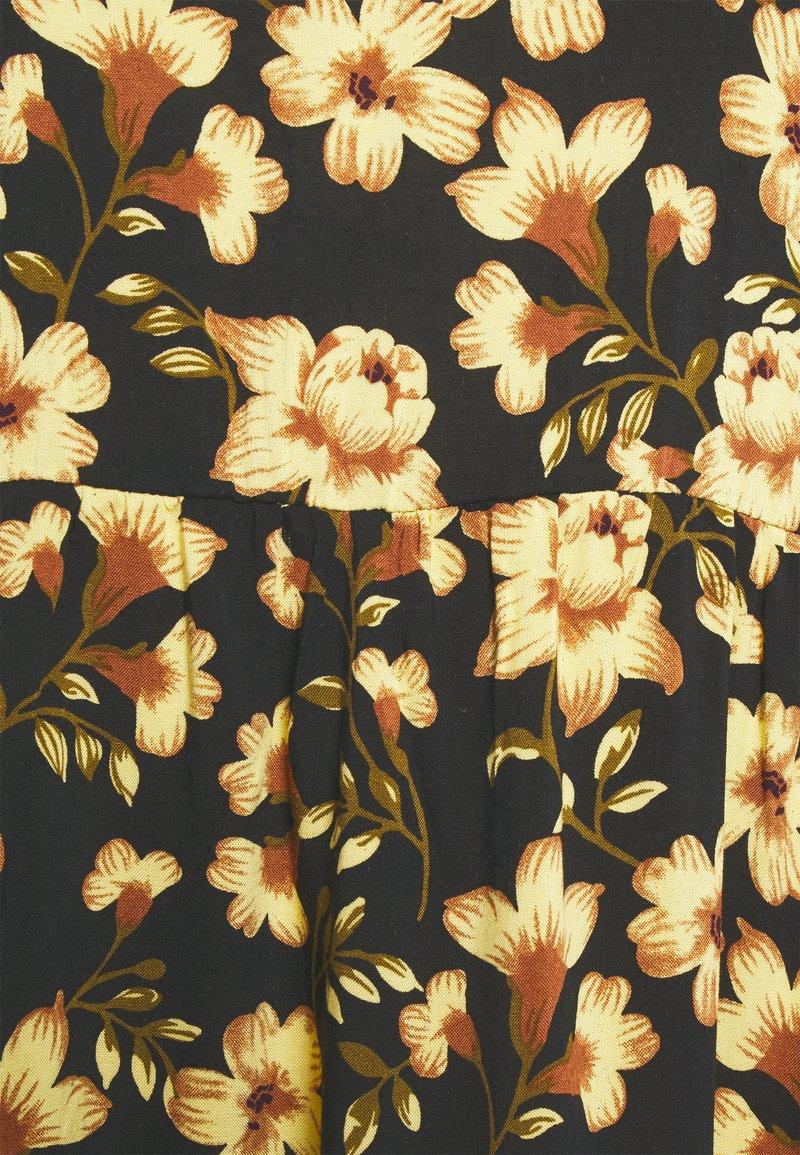 Vila VILANA DRESS - Freizeitkleid - black/yellow/schwarz LCERm1