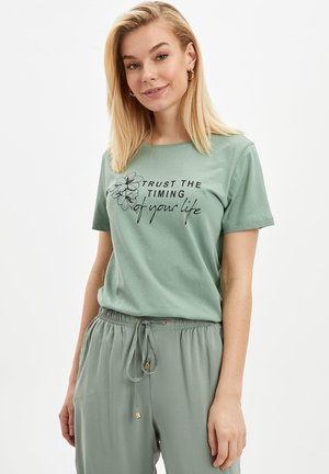 T-shirts print - turquoise