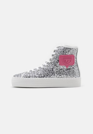 High-top trainers - silver