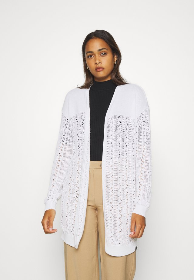 BELLA POINTELLE CARDIGAN - Cardigan - chalk white