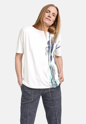 Print T-shirt - grün/blau druck