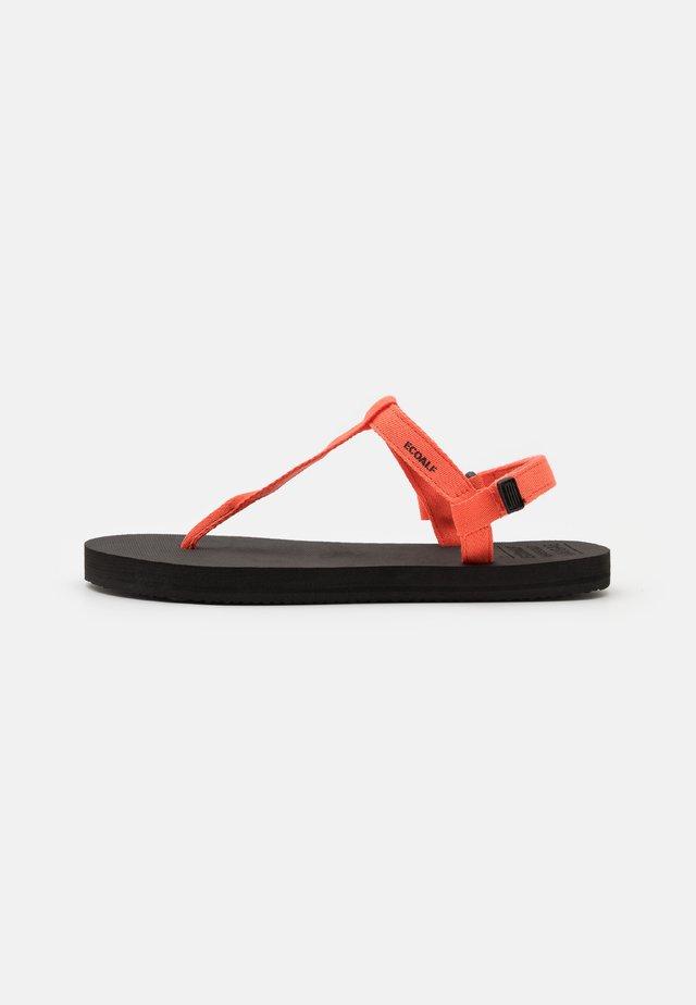 MALTA - T-bar sandals - coral