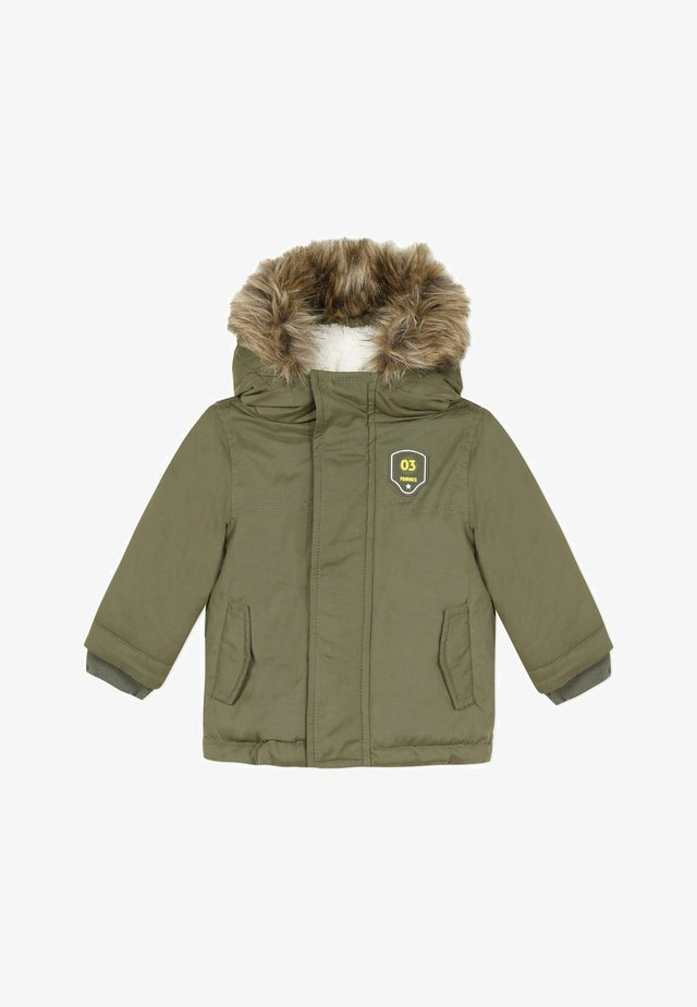 HOODED - Winter coat - kaki green