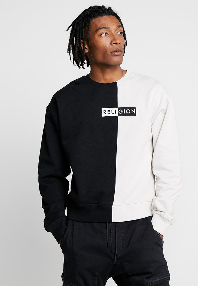 TAG  - Sweatshirt - black/ivory