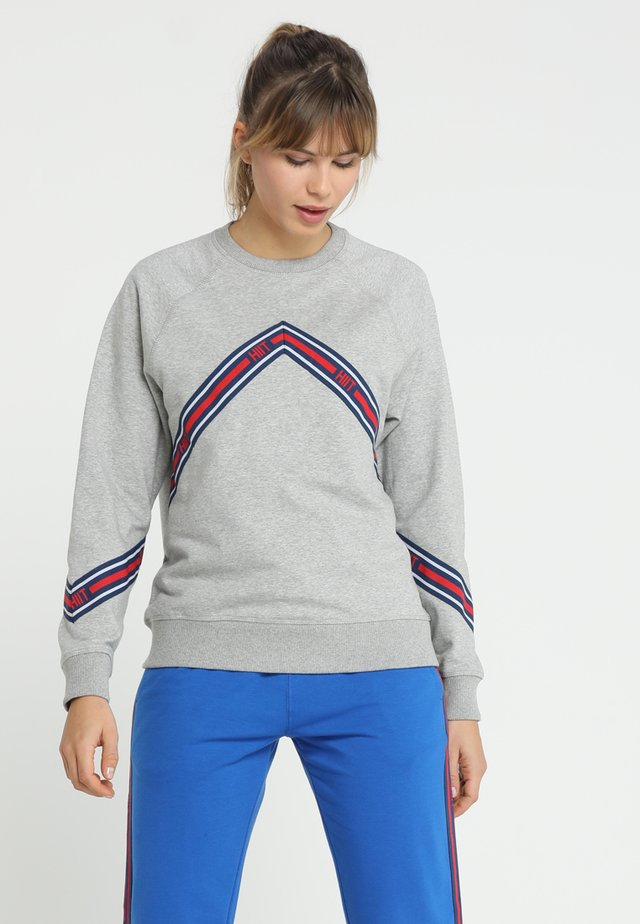 CHEVRON TAPED - Sweatshirt - grey marl