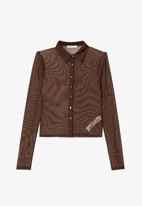 Stradivarius - Button-down blouse - brown - 4
