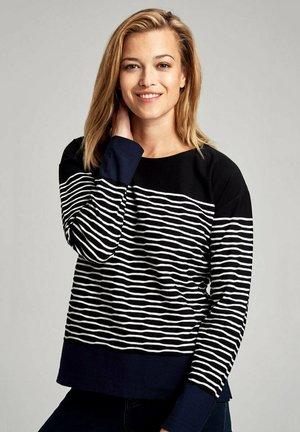 MARINIÈRE - T-SHIRT - Long sleeved top - noir milk admiral