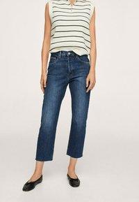 Mango - Straight leg jeans - donkerblauw - 0